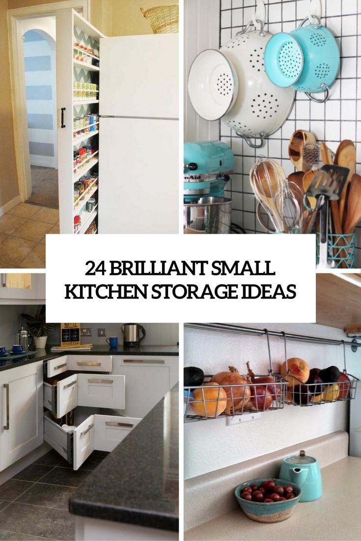 24 creative small kitchen storage ideas - shelterness WOXYLNZ