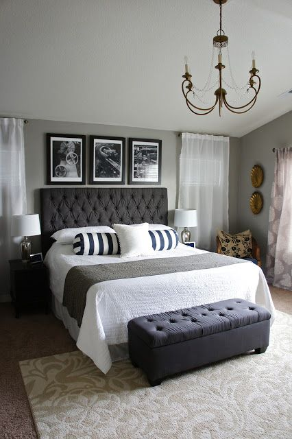 26 simple and chic master bedroom decorating ideas | stylecaster DBYHPPO
