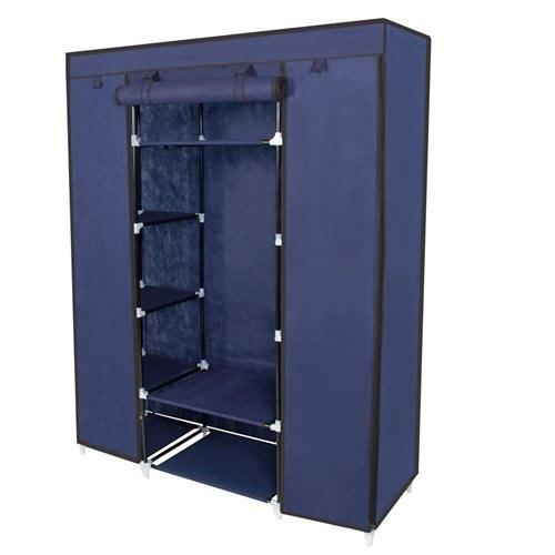 53 portable closet storage organizer wardrobe clothes rack with shelves 1 TNTQNOB