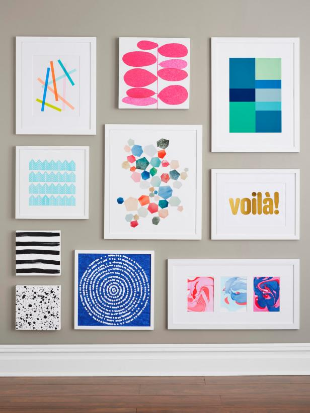 9 easy diy wall art ideas | hgtv RNWEYYA