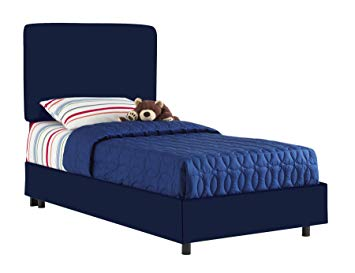 aaronu0027s full kids bed by skyline furniture in navy cotton JADRDLP