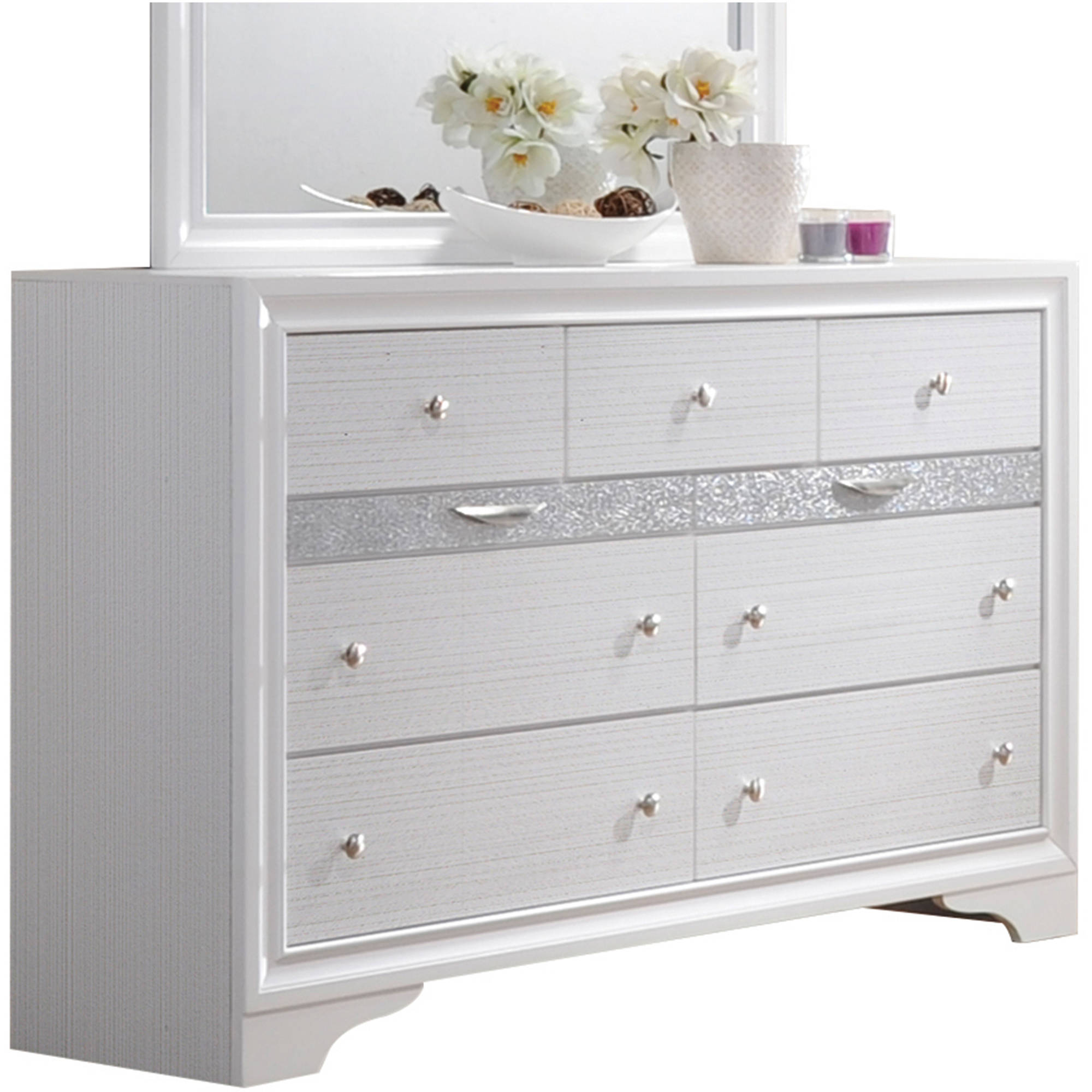 acme furniture naima white dresser with nine drawers - walmart.com BVWYKZY