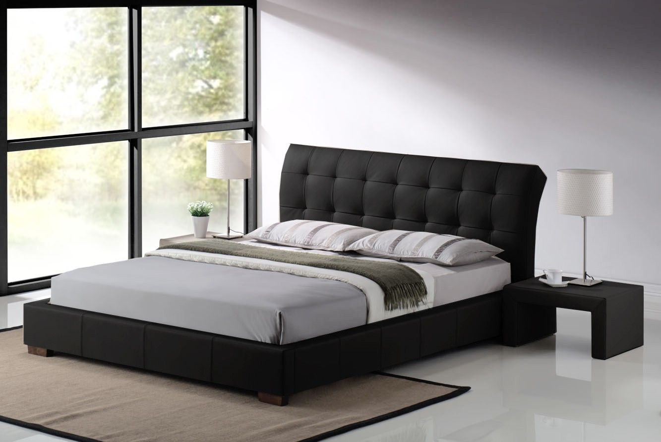 adding opulence to bedrooms with leather beds JNJOUUA