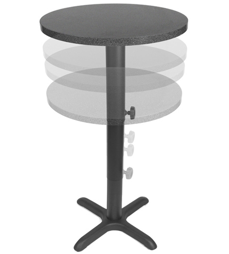 adjustable height restaurant table bases LHOSABS