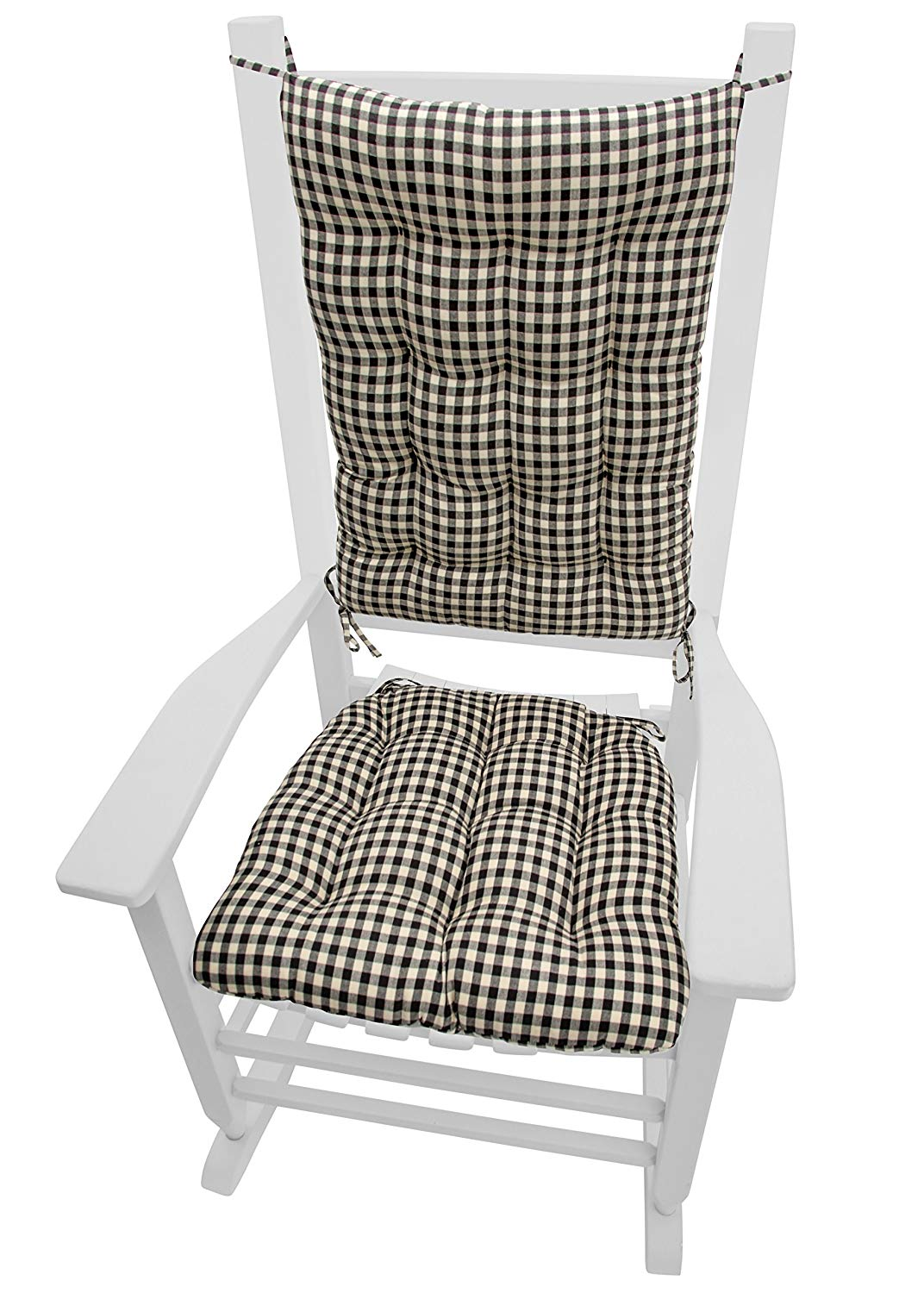 amazon.com: barnett products rocking chair cushions - checkers black u0026 DOKSASG