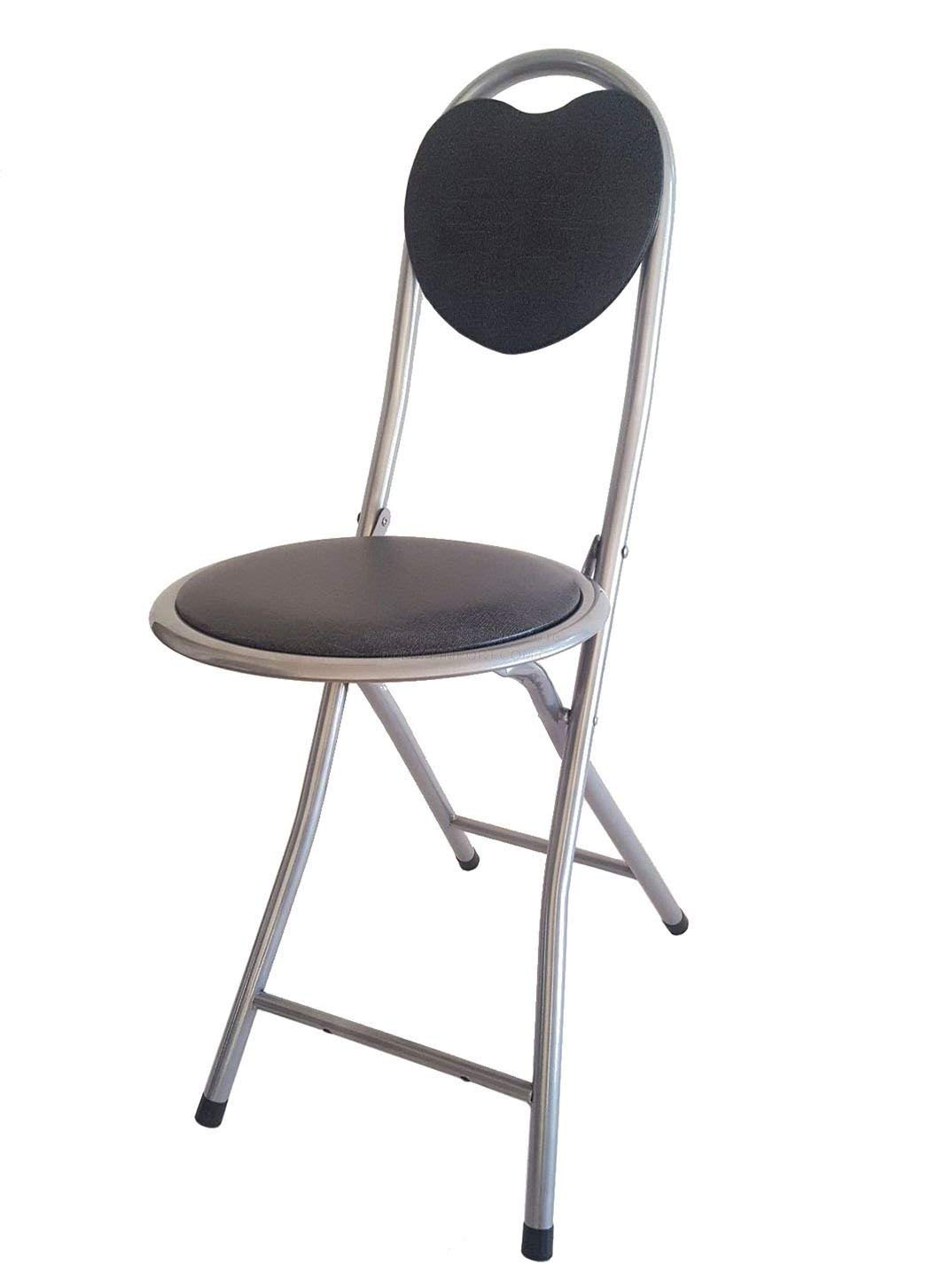 amazon.com: dlux small folding chair extra padded cushioned seat for UDFGSCV
