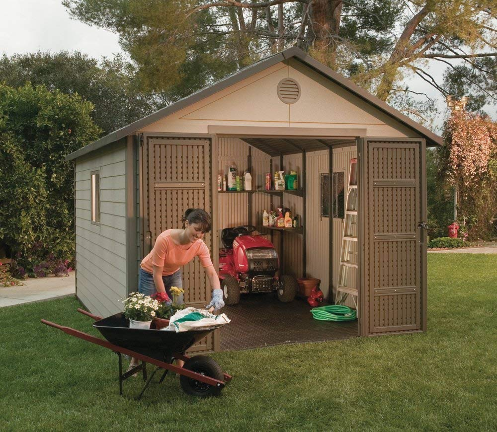 amazon.com : lifetime 6433 outdoor storage shed with windows, 11 by VLMOSCQ