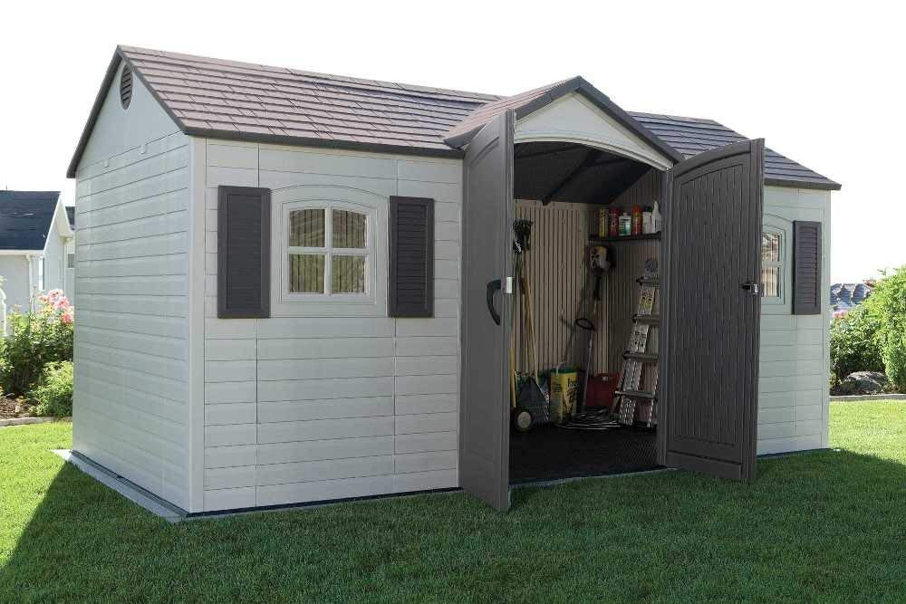 amazon.com : lifetime 6446 outdoor storage shed with shutters, windows, and AZJOTUE