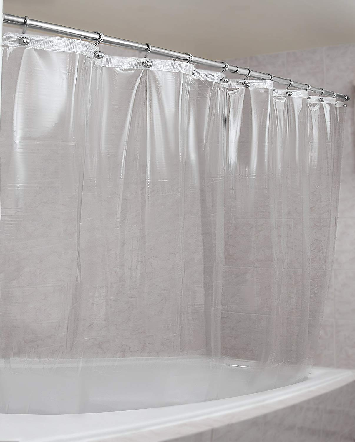amazon.com: strongest mildew resistant shower curtain liner on the  market-100% ICBKGDG