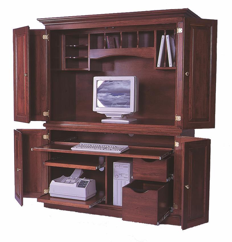 amish deluxe computer armoire desk LQDMXBN