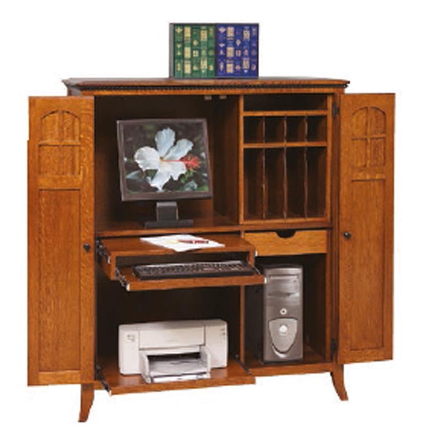 amish mt. eaton computer armoire desk PKPYCVK