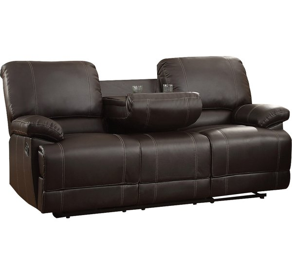 andover mills edgar double reclining sofa u0026 reviews | wayfair RGGMZRA