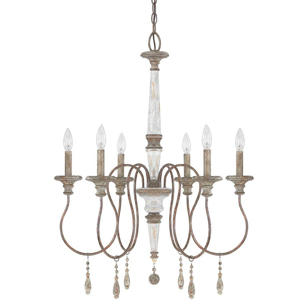 antique chandeliers 6-light french antique chandelier QGWPJEY