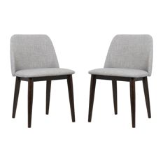 armen living - horizon contemporary dining chairs with brown wood legs, FJXIDXH
