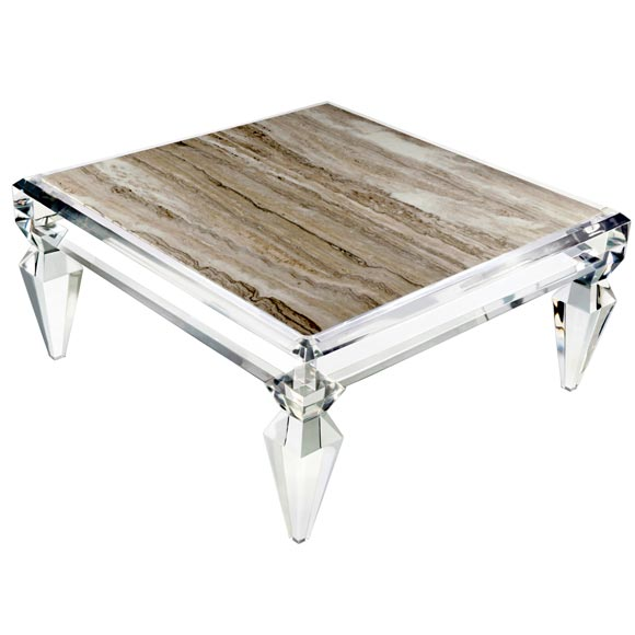avenire lucite coffee table by craig van den brulle for sale VCFKRSA