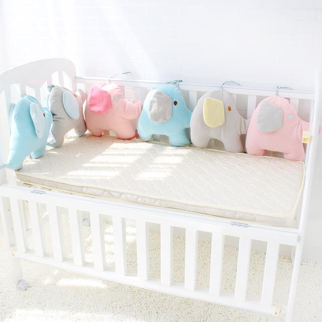 baby bed bumper for newborns elephant crib bumper infant cot crotch RWVMQFI