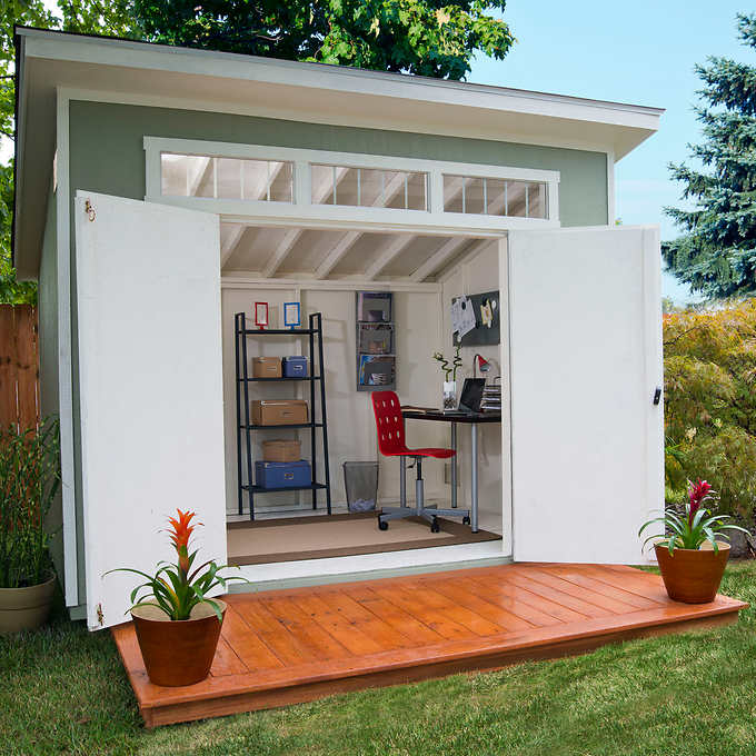 backyard sheds this simple lean to shed could be your summer studio. this QIJQOTA
