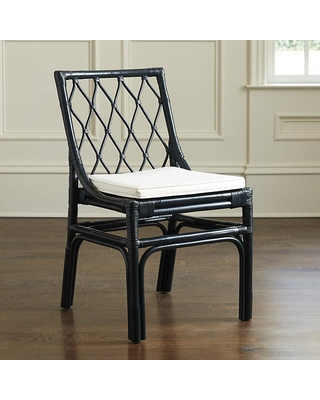 ballard designs vivian rattan dining chairs - set of 2 navy UGIPQBQ