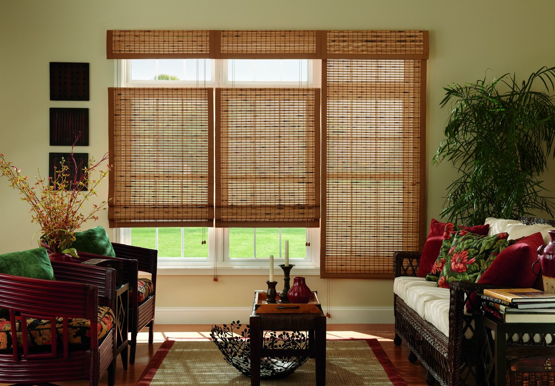 bamboo shades horizontal natural woven roman shade MKNBVQI