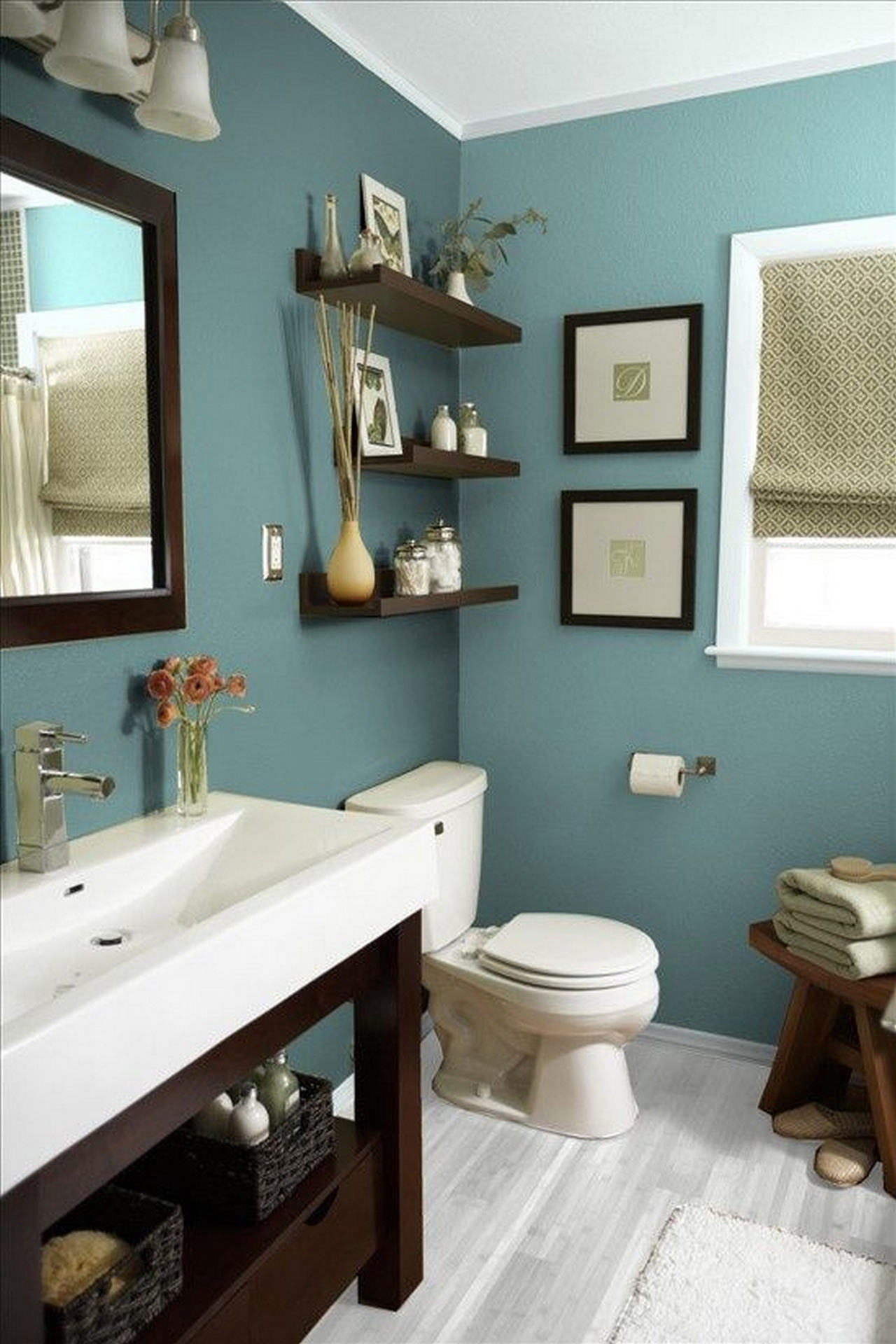 bathroom decorating ideas 13. chic and calming blue design theme MFQGEYO