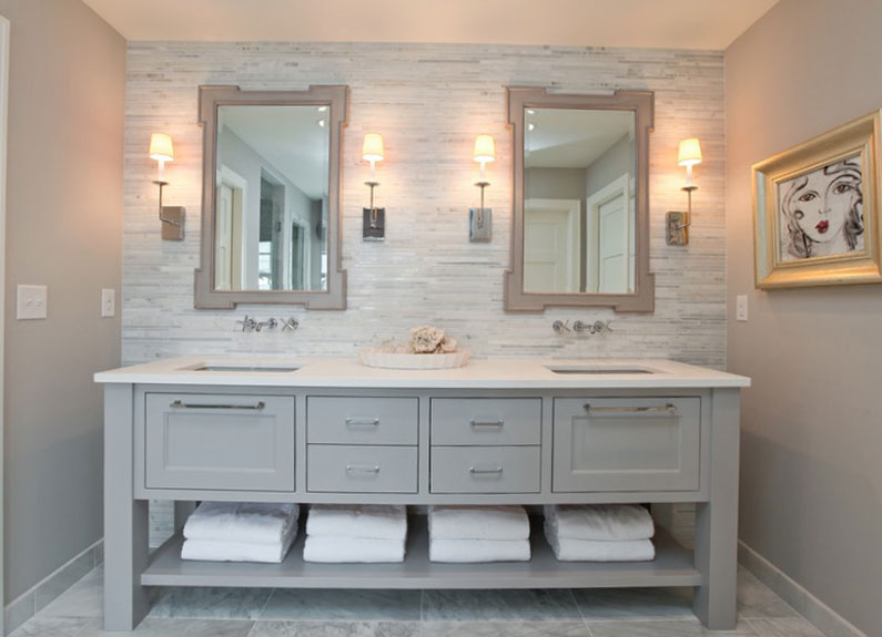 bathroom decorating ideas collect this idea painted-vanity LXZBMLG