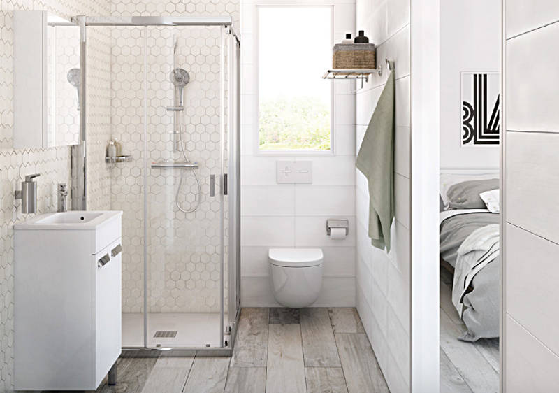 bathroom designs 4. add a seamless glass shower door to your small bathroom OKTWBVC
