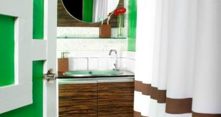 bathroom paint ideas kelly green bathroom with contemporary wood vanity IKEHOQY