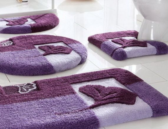 bathroom rug sets bathroom , 12 pretty designer bathroom rugs and mats : bathroom DJALAFN