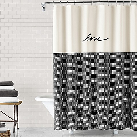 bathroom shower curtains ed ellen degeneres love 72-inch x 72-inch shower curtain YNQTDXU