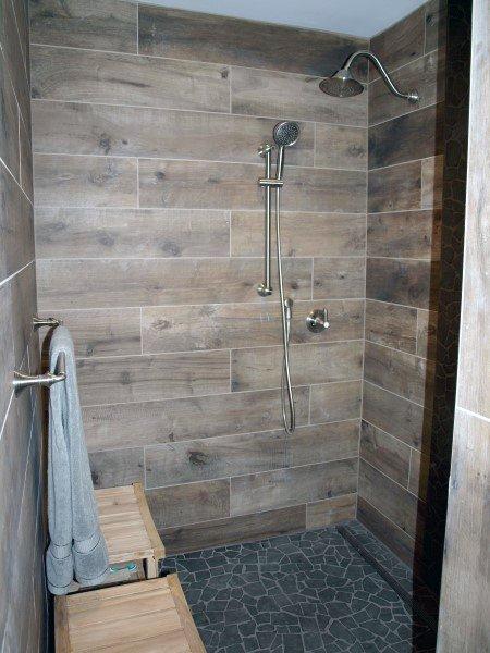 bathroom shower ıdeas wood look bathroom tile shower ideas XUXRATF