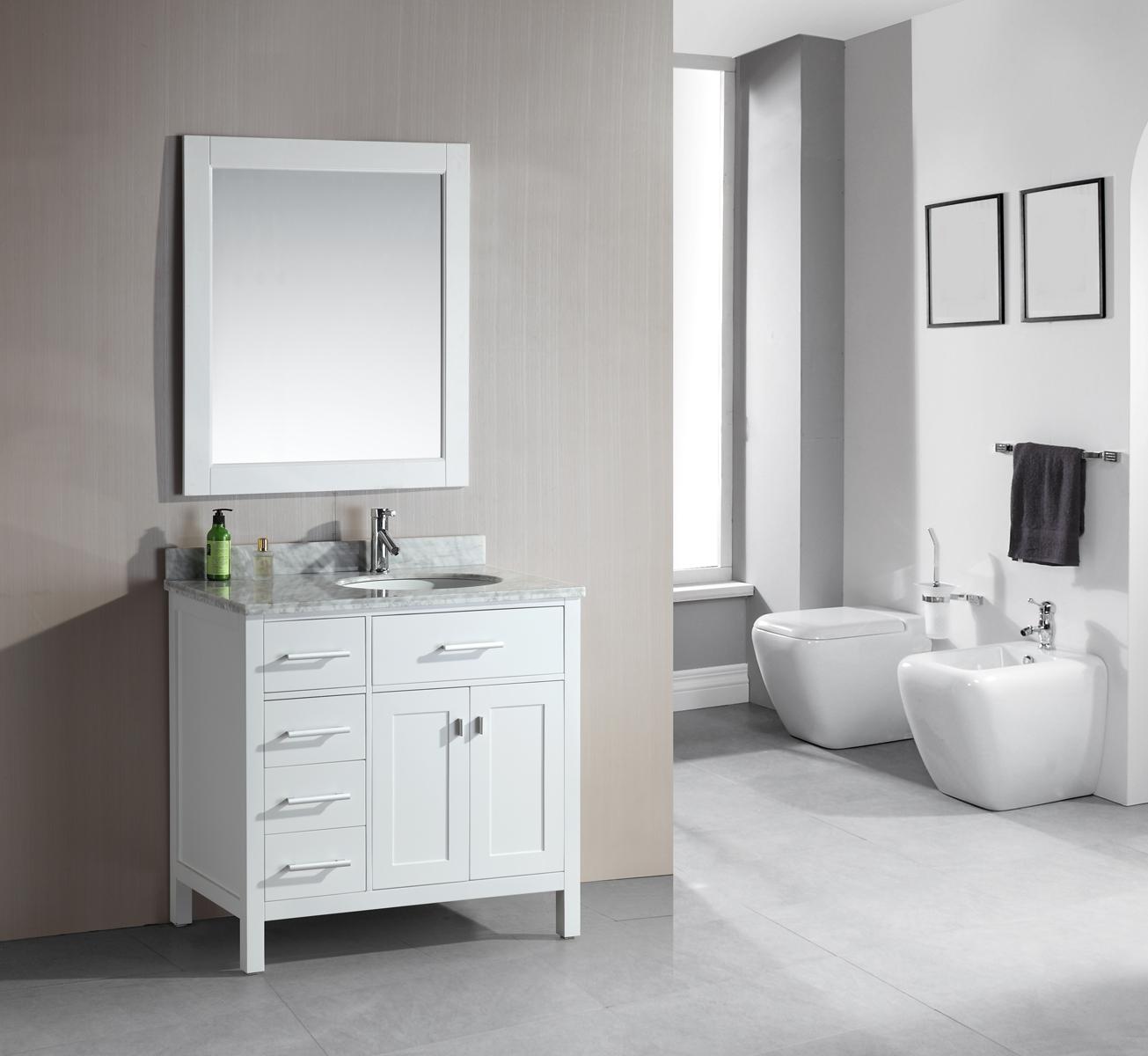 bathroom vanity designs adorna 36quot single bathroom vanity white finish white bathroom vanity TARQXGQ