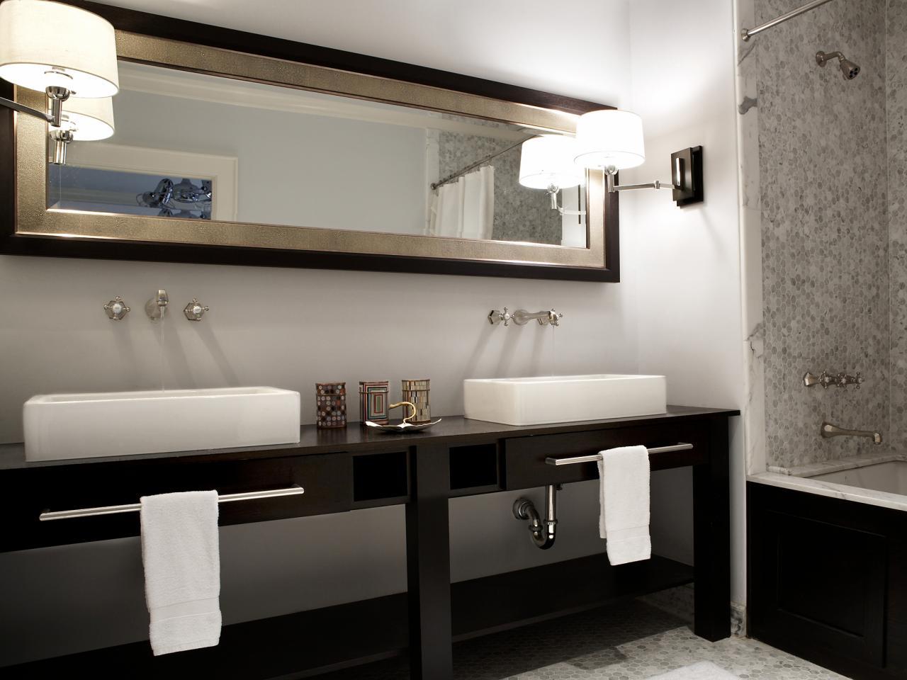 bathroom vanity designs double vanities for bathrooms | hgtv TDLEANP