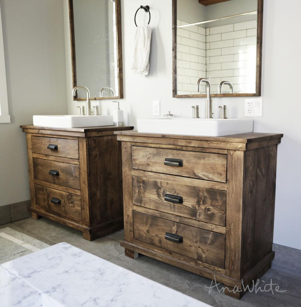 bathroom vanity rustic bathroom vanities FOKWVHB