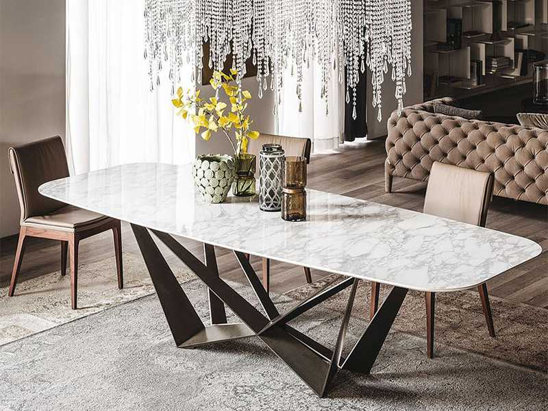 bedrock marble dining table contemporary marble top dining table white marble RNKWPUP