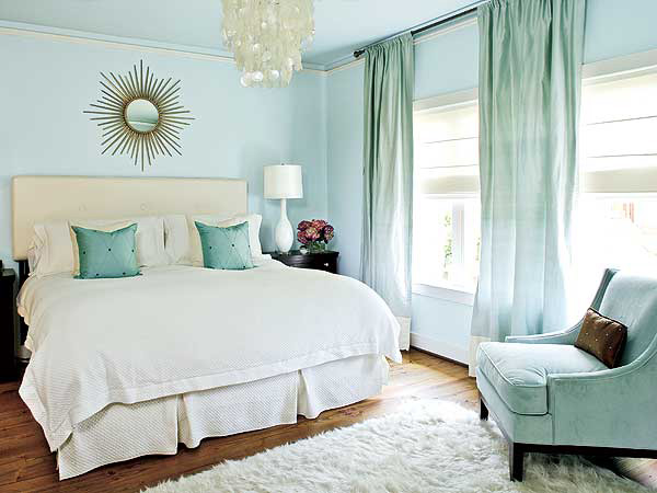 bedroom color scheme coastal-inspired blues with creamy white. BCLNZPT