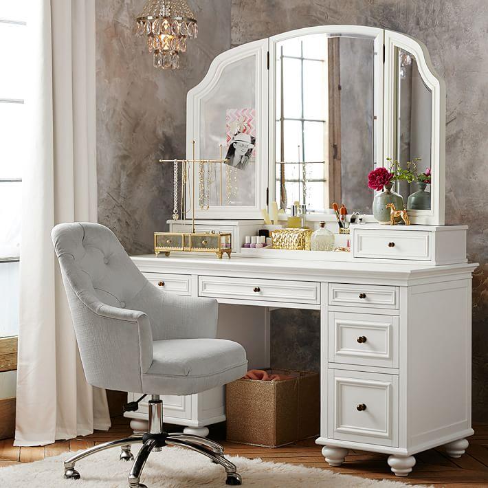 bedroom vanity chelsea vanity | pbteen ZWAGNEK