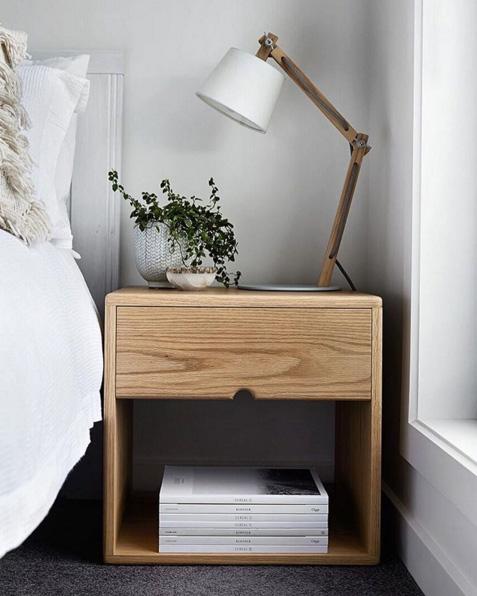 bedside tables american oak bedside table - scandinavian style - the local project DTYNLYC
