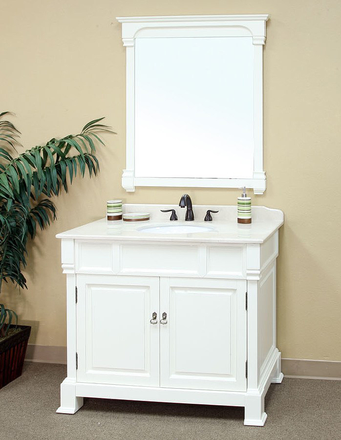 bellaterra home 205042-a/white bathroom vanity ... DKXCNMV