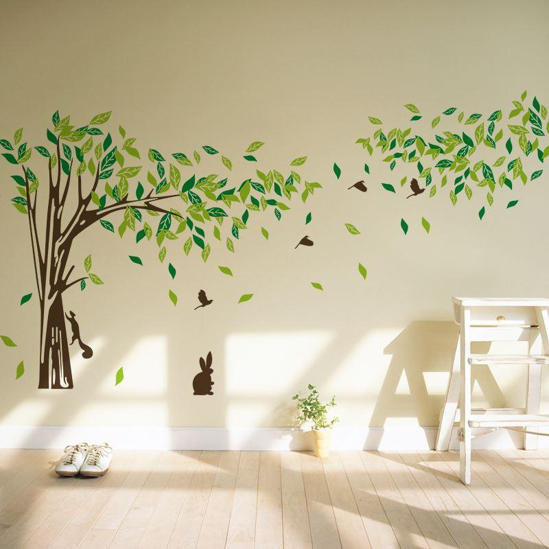 big size trees living room tv wall stickers tree wall stickers DZQHUOV