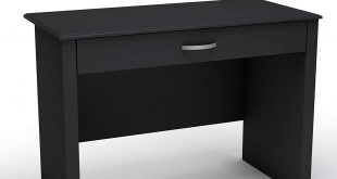 black desk amazon.com: south shore work id collection laptop desk, pure black: kitchen ZMLTTDJ