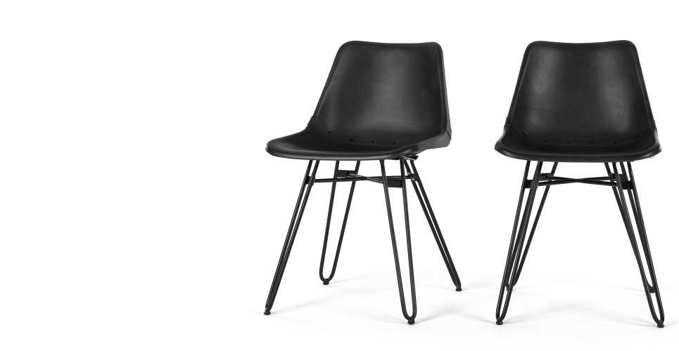 black dining chairs kendal PRMXRVS