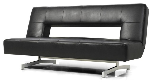 black eco-leather sofa bed HHTGKNY