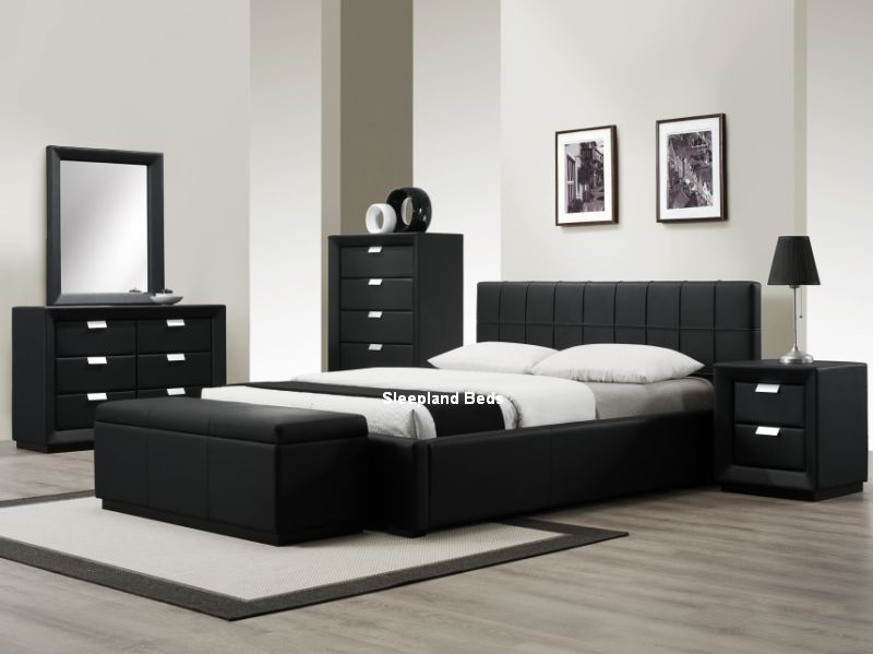black furniture modern black bedroom furniture ... URGMTPS