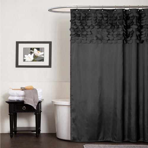 black shower curtain lillian shower curtain AOCCRIN