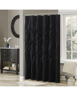 black shower curtain madison park hacienda shower curtain, black BJOQAXP