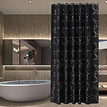 black shower curtain sfoothome polyester fabric shower curtain waterproof/no mildews bathroom shower  curtains,black BJCYPKR