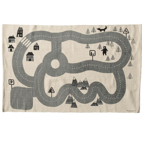 bloomingville kids rug with road print LDGBLUF