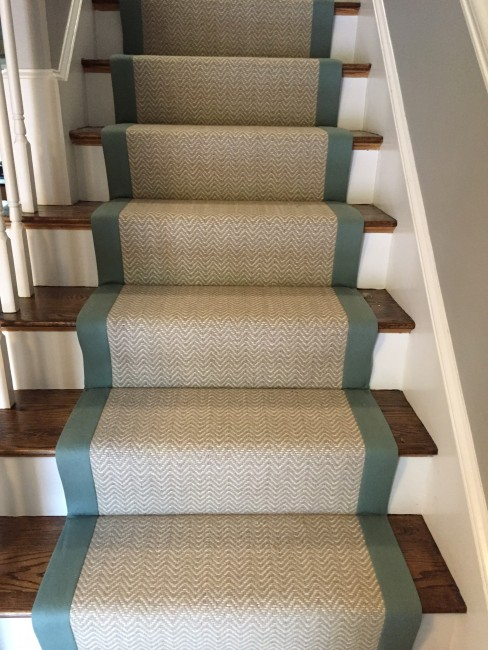 bloomsburg, tessio, nickel - custom 31u2033 stair runner with dark gray SFLHBJF