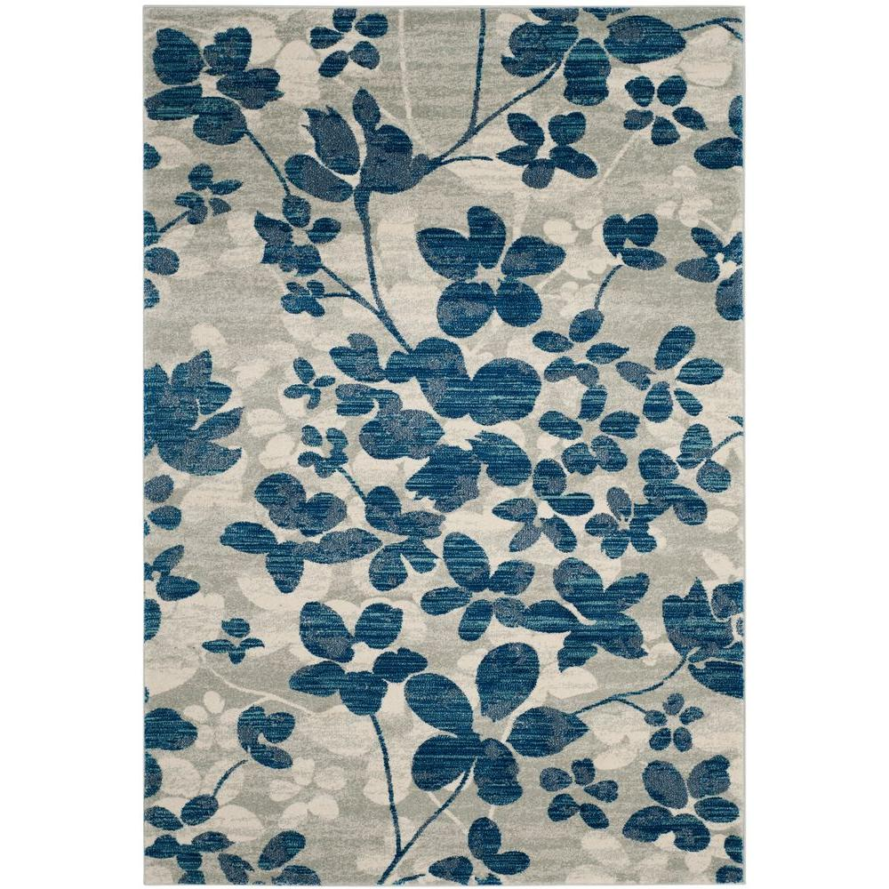 blue area rugs safavieh evoke gray/light blue 8 ft. x 10 ft. area rug ASQFEZU