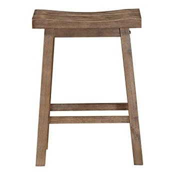 boraam 75024 sonoma counter height saddle stool, 24-inch, wire-brush JDYQFXK